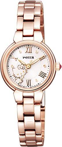 [シチズン] ウィッカ wicca×Hello Kitty ソーラーテックコラボレーションモデル '76, 16 SANRIO KP2-167-11 腕時計 ピンクゴールド