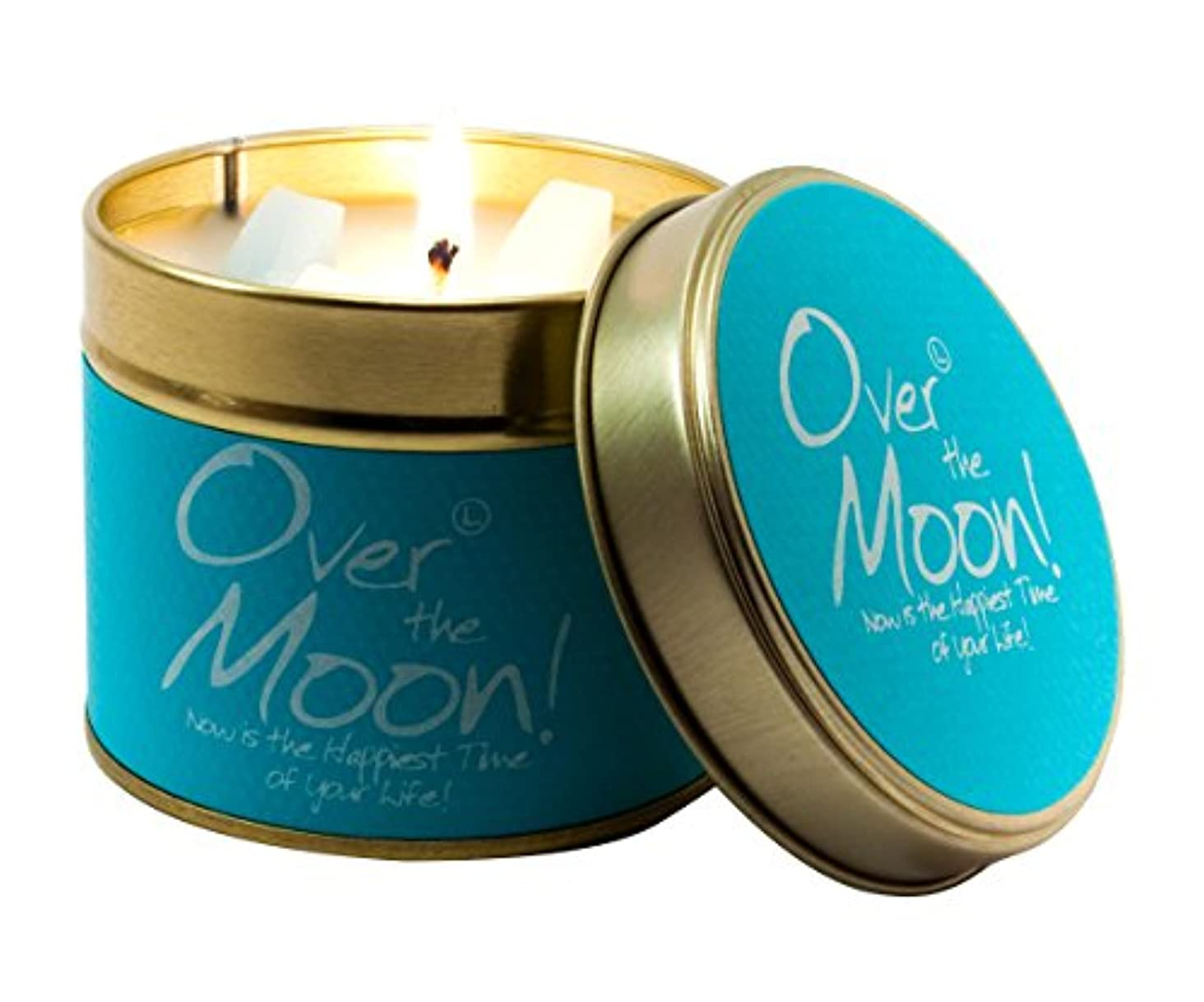レンダーホーム圧縮Lily-Flame Over The Moon! Tin, Blue by Lily Flame