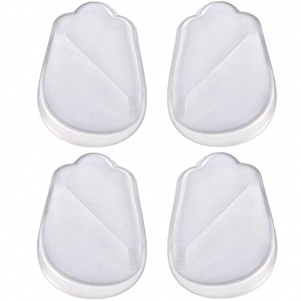 腰各導出X脚 O脚 矯正用 かかと インソール 中敷き ジェル シリコン 透明 衝撃を吸収 男女兼用 靴に 入れて 履くだけ 4枚 2足分セット
