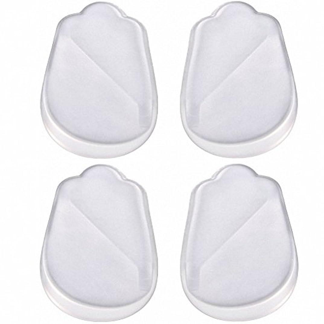 従順な拒絶タクトX脚 O脚 矯正用 かかと インソール 中敷き ジェル シリコン 透明 衝撃を吸収 男女兼用 靴に 入れて 履くだけ 4枚 2足分セット