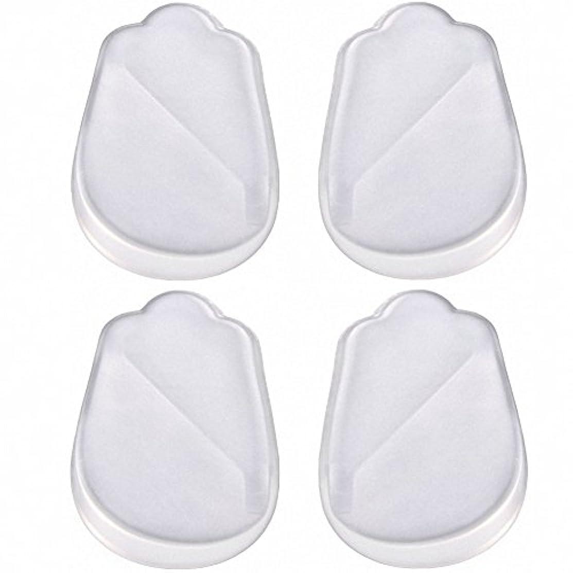 コットンリスク治すX脚 O脚 矯正用 かかと インソール 中敷き ジェル シリコン 透明 衝撃を吸収 男女兼用 靴に 入れて 履くだけ 4枚 2足分セット