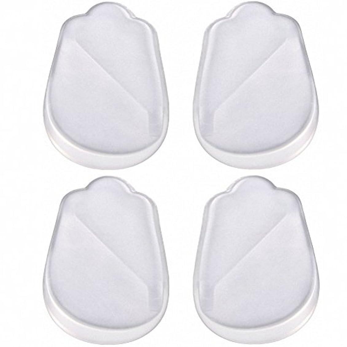 いちゃつく悲しいことに救いX脚 O脚 矯正用 かかと インソール 中敷き ジェル シリコン 透明 衝撃を吸収 男女兼用 靴に 入れて 履くだけ 4枚 2足分セット