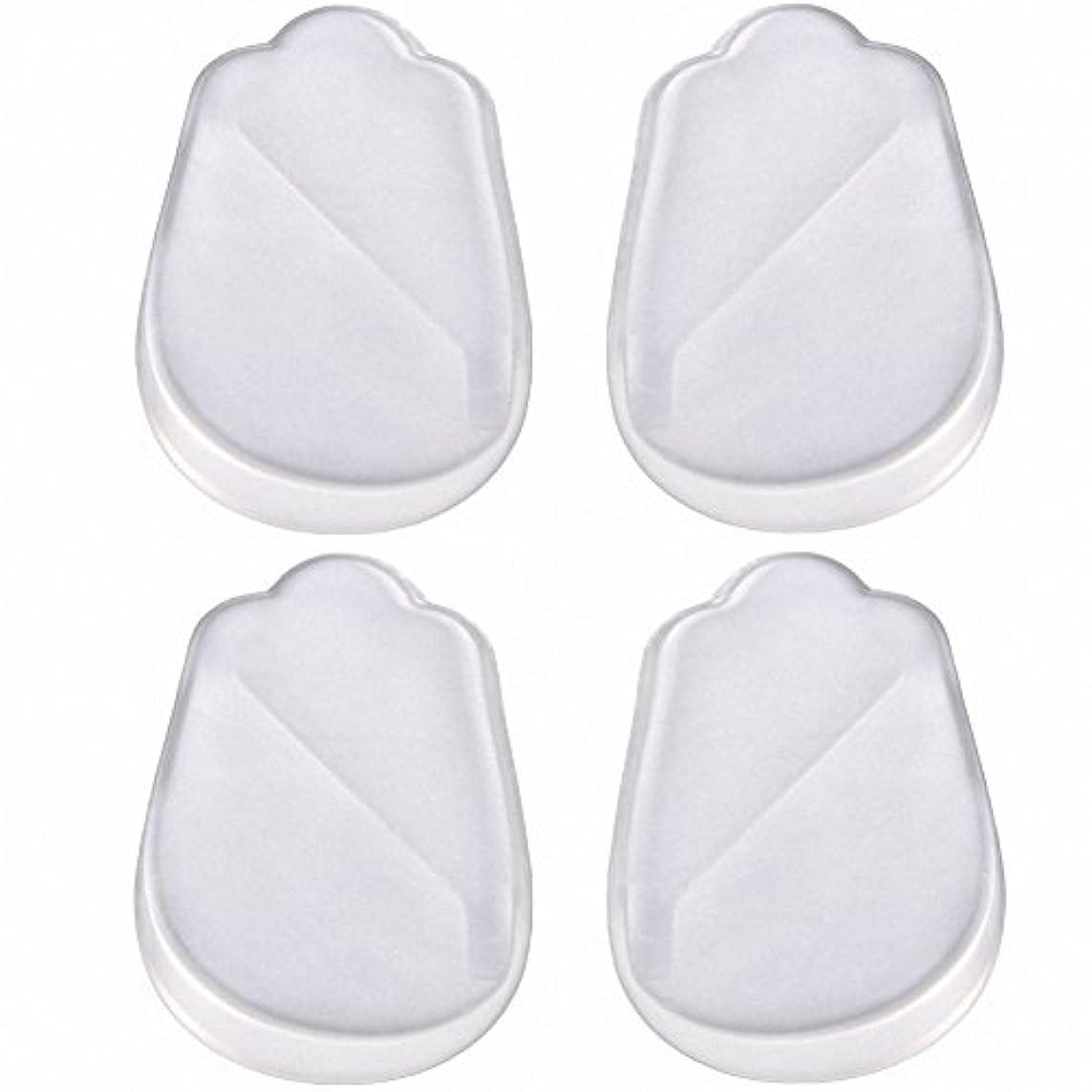 パーツボウリング該当するX脚 O脚 矯正用 かかと インソール 中敷き ジェル シリコン 透明 衝撃を吸収 男女兼用 靴に 入れて 履くだけ 4枚 2足分セット