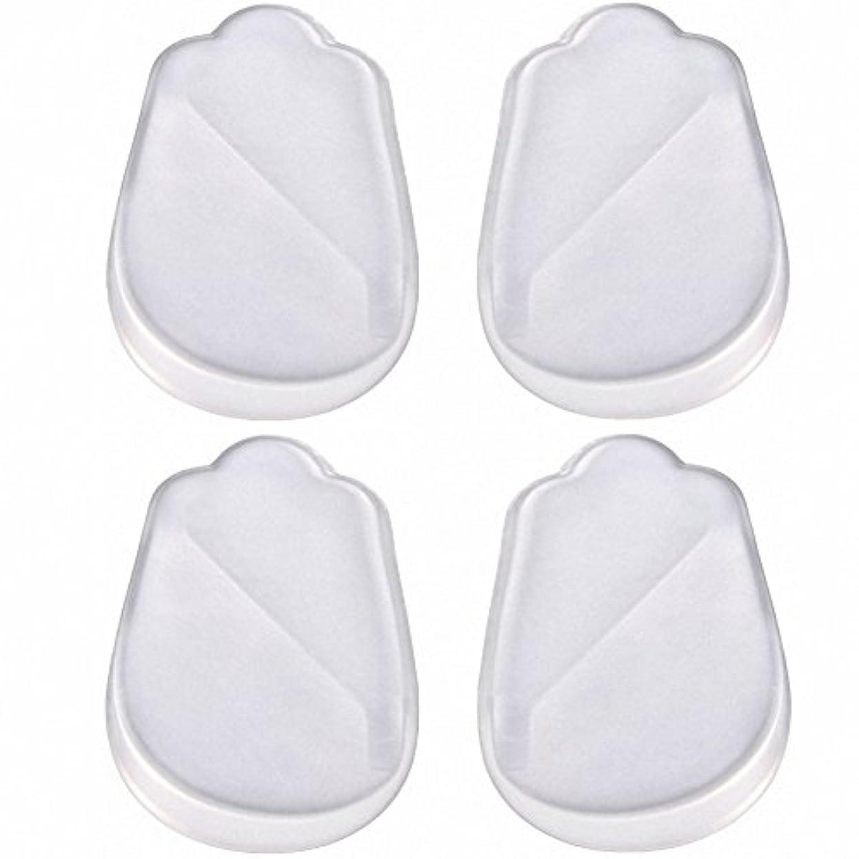 沼地リラックス創造X脚 O脚 矯正用 かかと インソール 中敷き ジェル シリコン 透明 衝撃を吸収 男女兼用 靴に 入れて 履くだけ 4枚 2足分セット