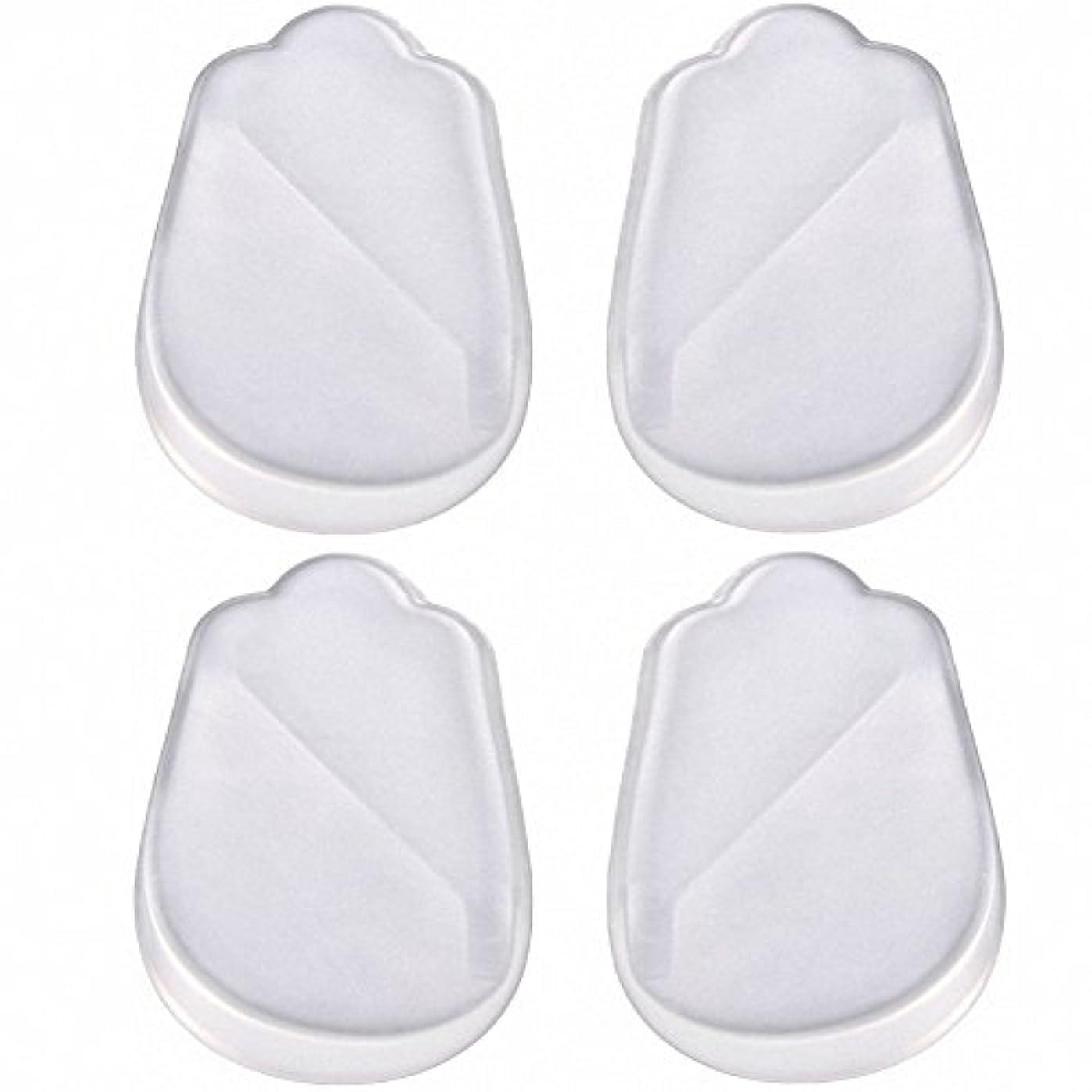 観点とティーム中性X脚 O脚 矯正用 かかと インソール 中敷き ジェル シリコン 透明 衝撃を吸収 男女兼用 靴に 入れて 履くだけ 4枚 2足分セット