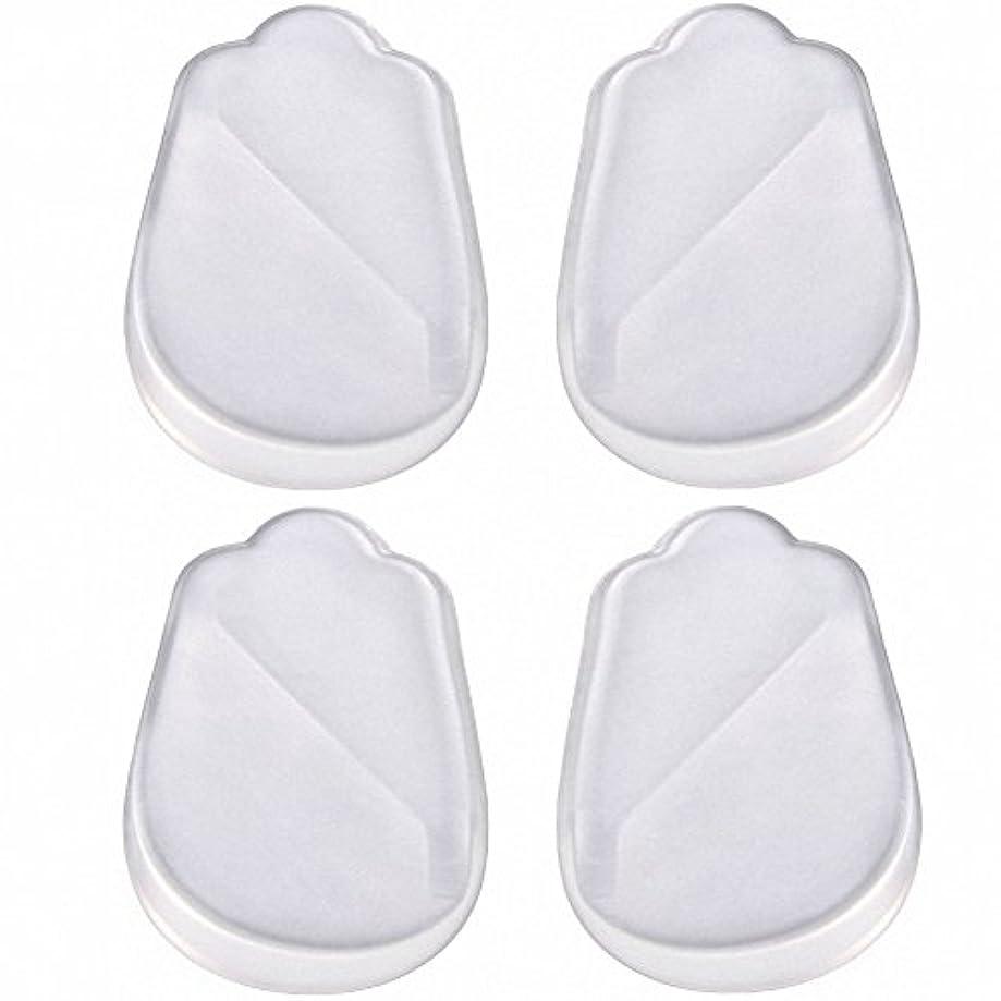 スリップシューズ性的形成X脚 O脚 矯正用 かかと インソール 中敷き ジェル シリコン 透明 衝撃を吸収 男女兼用 靴に 入れて 履くだけ 4枚 2足分セット