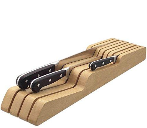 mikketa 包丁立て 木製 包丁 スタンド 滑り止め 7本用 抗菌 防カビ 加工【メーカー保証付き】