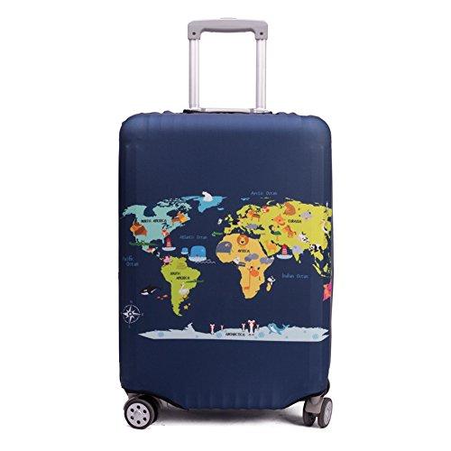 "Maddy's Home 伸縮素材 スーツケース カバー 選べる 柄 バリエーション M/L/XLサイズ (Animal Map, XL (29""-32"" suitcase))"