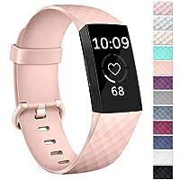 Vancle バンド Fitbit Charge 3用 レディース メンズ クラシック スポーツアクセサリー 交換用腕時計リストバンド Fitbit Charge 3 スペシャルエディション Fitbit Charge 3用 S