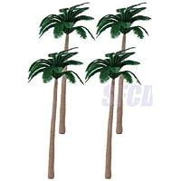 ミニチュアドールハウス妖精Gardenモデルの4つのセットPalm Trees