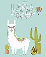 Lama 2020-2021 18 Month Planner: Funky Llama & Cactus Organizer with Weekly & Monthly Views | Pretty Inspirational Calendar & Schedule Agenda with Inspirational Quotes, Vision Boards, To Do's & More.