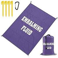レジャー旅行シートピクニックマット防水145×200センチ折りたたみキャンプマット毛布オーニングテントライトと収納が簡単ポータブル巾着