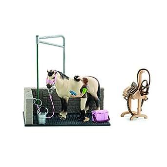 シュライヒ ホースクラブ 馬の洗い場 フィギュア 42104