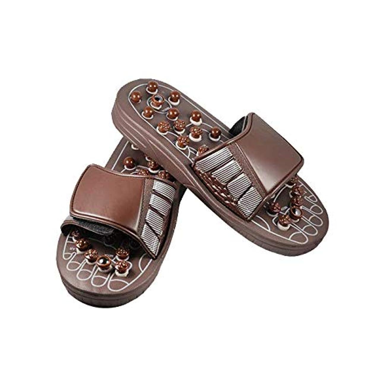 承認死傷者アブストラクトEuphoric Feet 男性と女性のためのマッサージスリッパ足リフレクソロジー指圧サンダルの靴の救済痛み (M)