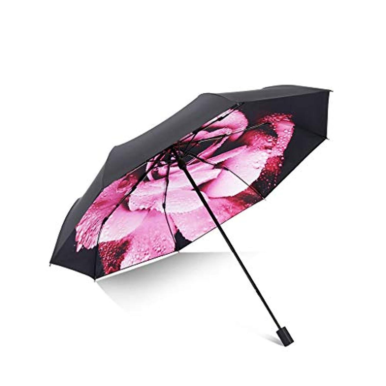 宿題をする建築最終Py 傘日焼け防止UV傘折りたたみデュアルユース日傘ファッションクリエイティブ小さな新鮮な印刷