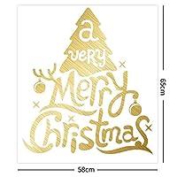 HNSYDS クリスマスの飾りは、65×58センチメートル、手紙クリスマスツリークリスマスツリーショップ壁のステッカーをスノーフレーク 静的ステッカー
