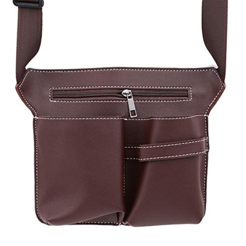 悲しむ現実紫のMARUIKAO メイクブラシケース ウエストポーチ 収納バッグ はさみ オーガナイザー ホルダー 化粧ツール 便利グッズ ベルト 美容師 美容用品 保管ポケット