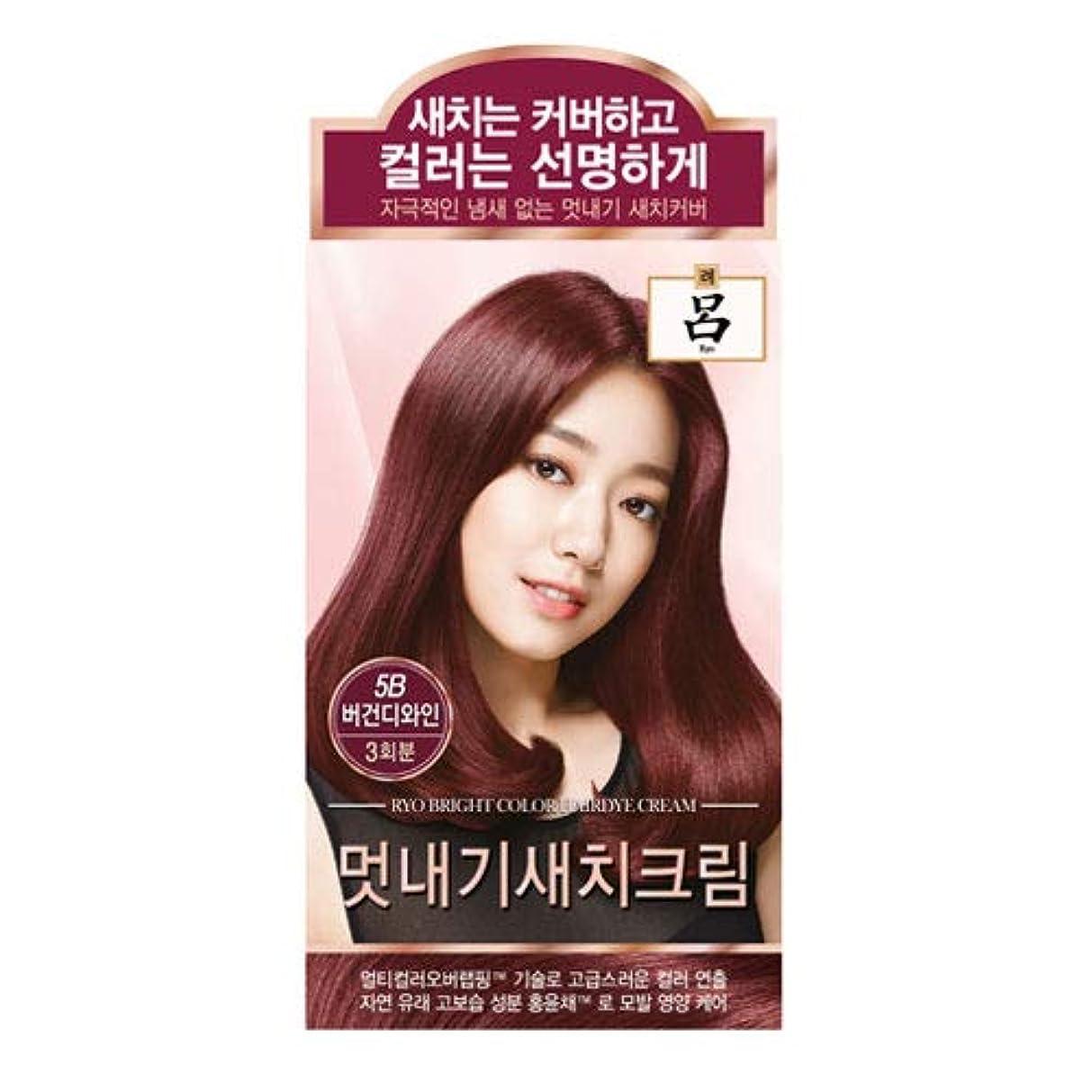 着るプレフィックスエッセンスアモーレパシフィック呂[AMOREPACIFIC/Ryo] ブライトカラーヘアダイクリーム 5B ブルゴーニュワイン/Bright Color Hairdye Cream 5B Burgundy Wine