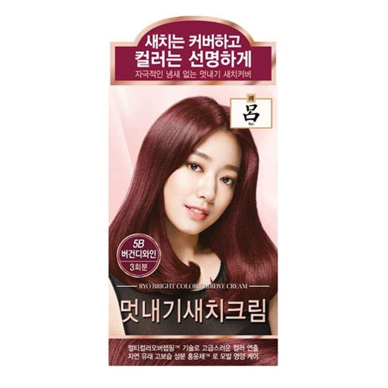 腐ったバインド塗抹アモーレパシフィック呂[AMOREPACIFIC/Ryo] ブライトカラーヘアダイクリーム 5B ブルゴーニュワイン/Bright Color Hairdye Cream 5B Burgundy Wine
