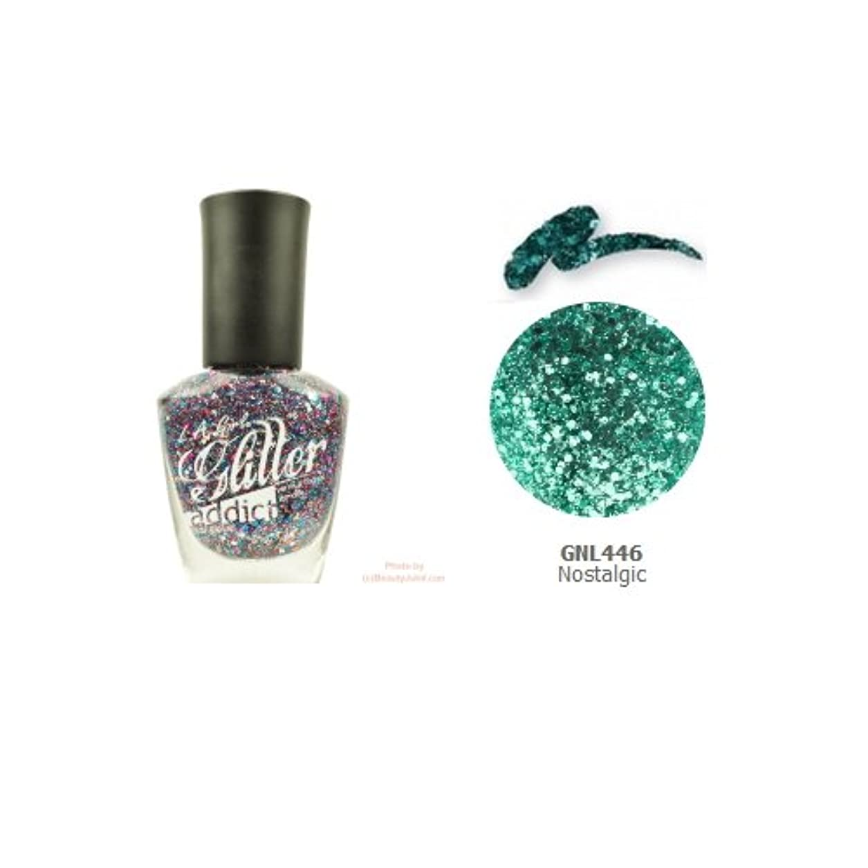 折るジェム肉(3 Pack) LA GIRL Glitter Addict Polish - Nostalgic (並行輸入品)