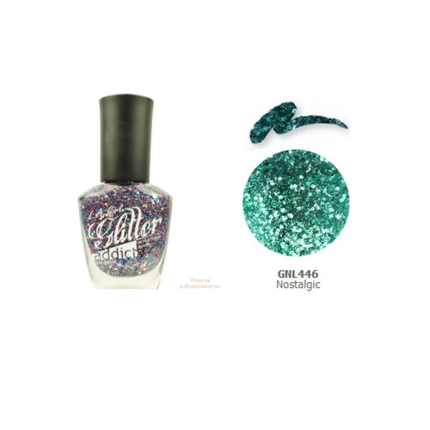 開発フック例(3 Pack) LA GIRL Glitter Addict Polish - Nostalgic (並行輸入品)