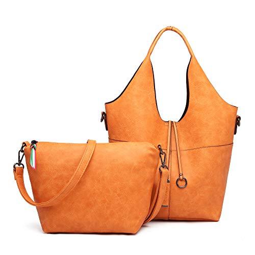 【グッシオ ベーシック】 A4対応 バッグインバッグ ショルダー付き 3WAYトート レディース (オレンジ)