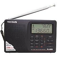 TECSUN PL-606 (日本語版取扱説明書)デジタルPLL ポータブルラジオFM ステレオ/LW/SW/MW DSPレシーバー PL606 black (ブラック)