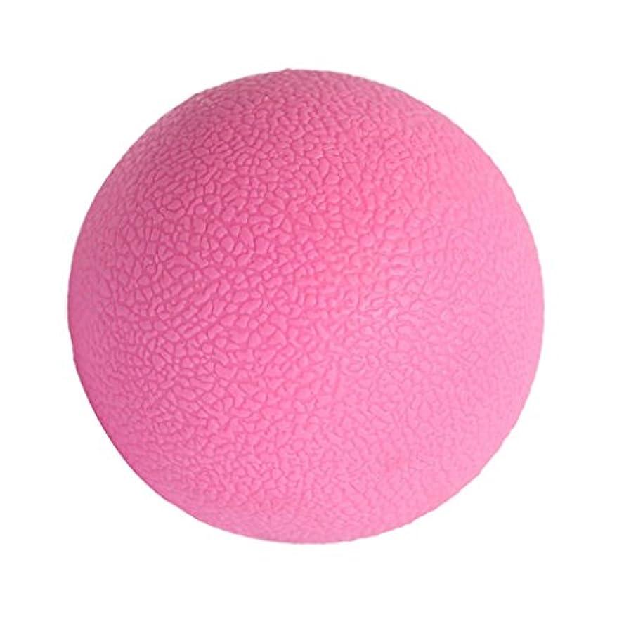 絶滅襟利得マッサージボール ジムフィットネス 筋肉マッサージ ボール トリガーポイント 4色選べる - ピンク, 説明したように