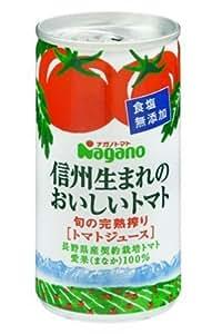 ナガノトマト 信州生まれのおいしいトマト 食塩無添加 190G×30缶