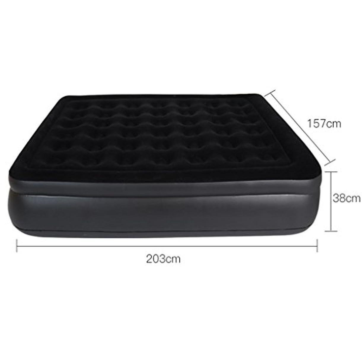 暖かく売り手汚染するベッド、屋外インフレータブル家庭用エアクッションマットレス折りたたみ式レイジーポータブルシンプル (サイズ さいず : 157*203*38cm)