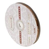 F Fityle リボンロール ギフト 包装 DIY 装飾 お花 手作り材料 多色選べ - コーヒー