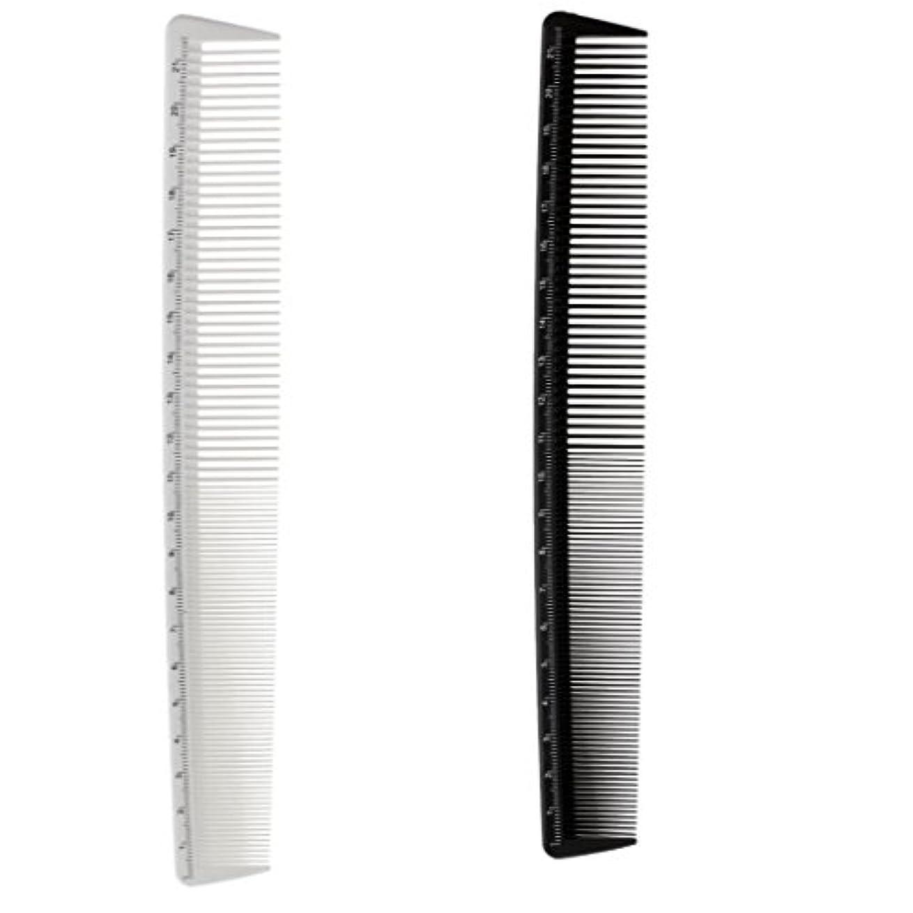 高いモチーフ設計CUTICATE 2倍の樹脂プロ細かい歯の櫛理髪師の髪のカットスタイリングの櫛のブラシツール
