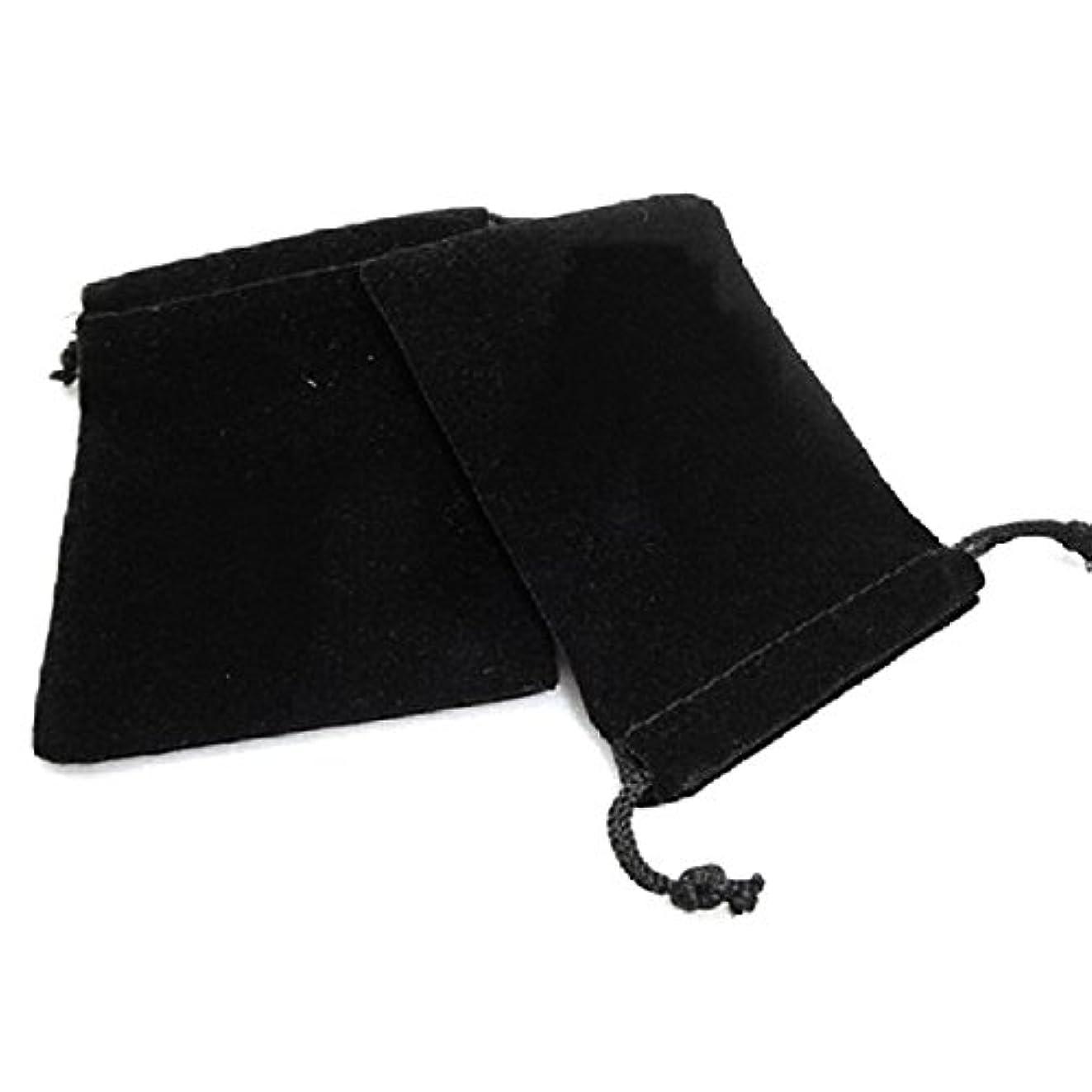 調べる自己狂人ROSENICE 巾着袋 ジュエリーポーチ 収納袋 75個 9x7cm(ブラック)