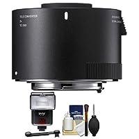 Sigma tc-20012x Teleconverter (for Canon EOSカメラ) withフラッシュ+ディフューザー+キット