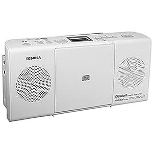 東芝 Bluetooth機能搭載CD対応ラジオ(ホワイト)TOSHIBA TY-CW26(W)