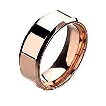 Jushye_Earrings/Ring/Necklace/Bracelet Stainless Steel Rings,Jushye Fashion Simple Unisex Lovers Stainless Steel Mirror Finger Rings Jewelry Gifts Size 5~13