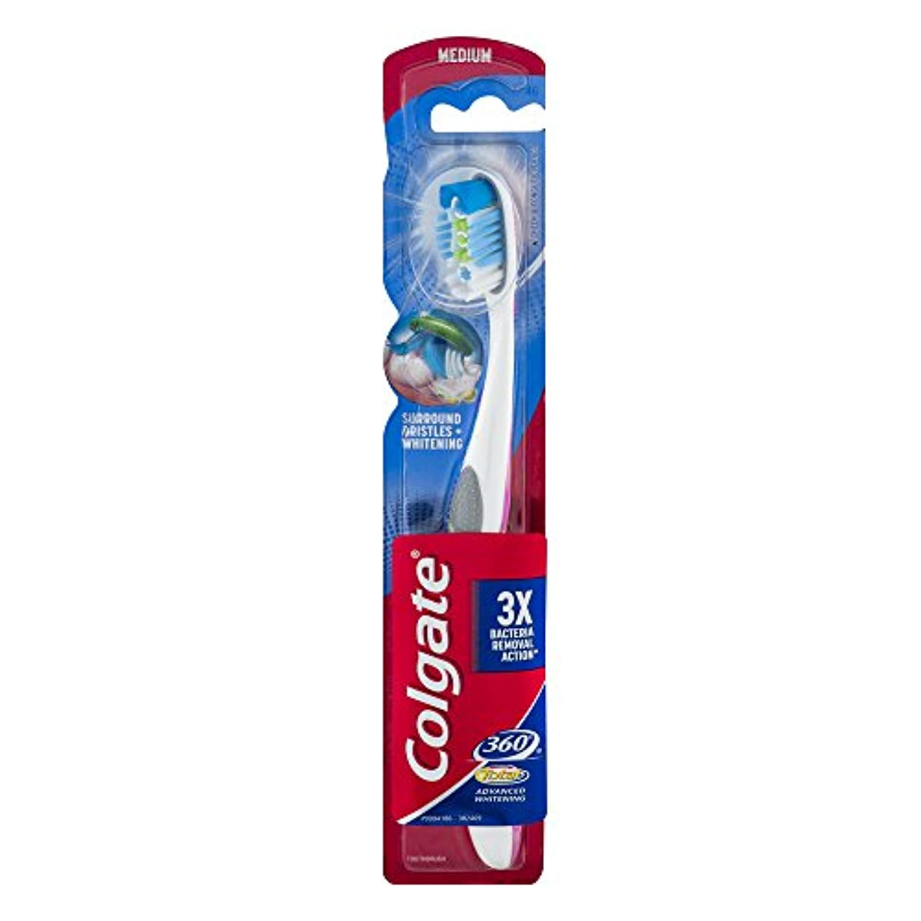 Colgate 360合計アドバンスト歯ブラシ完全な頭部ミディアム