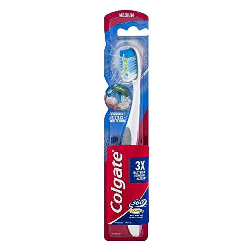 効率的人理容師Colgate 360合計アドバンスト歯ブラシ完全な頭部ミディアム