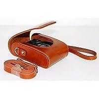 保護レザーケースバッグPU材質プロテクターfor Ricoh cx3cx4cx5cx6デジタルカメラ(ライトブラウン)