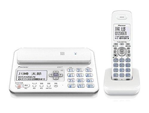 パイオニア TF-FA70W デジタルコードレス電話機 子機1台付き/迷惑電話対策 ホワイト TF-FA70W-W
