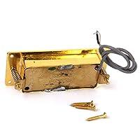 sharprepublic エレクトリックギター ピックアップ ハムバッカー 金メッキ 亜鉛合金製 取り付けネジ付き 汎用