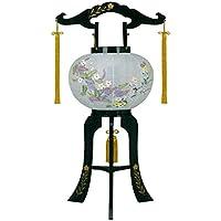 盆提灯 10号 置き型 あかり 廻転灯付 高さ72cm 電気コード式 日本製 行灯 盆提灯 八女提灯