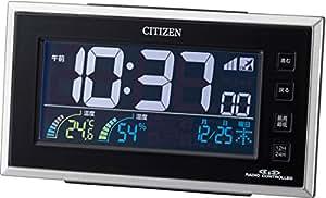 CITIZEN(シチズン) 電波目覚まし時計 パルデジットネオン ブラック 8RZ121-002