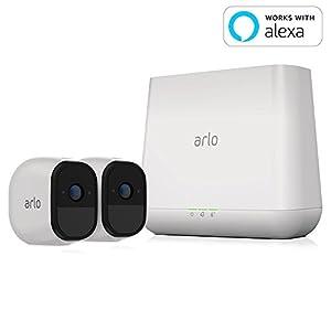 【Works with Alexa】 NETGEAR ネットワークカメラ ワイヤレス 見守り 簡単設置 どこからでも見れる Arlo Pro スターターキット カメラ2台セット VMS4230-100JPS