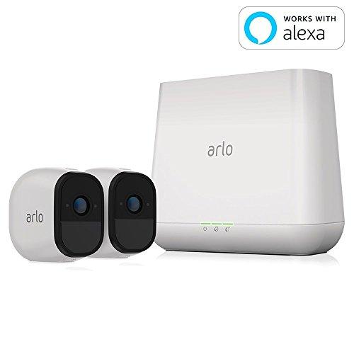 【Works with Alexa】 Arlo ネットワークカメラ ワイヤレス 見守り 簡単設置 どこからでも見れる Arlo Pro スターターキット カメラ2台セット VMS4230-100JPS