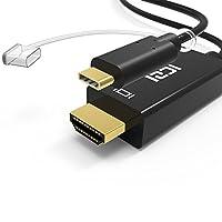ICZI usb type c hdmi ケーブル USB 3.1 Type C (Thunderbolt 3 対応) to HDMI コレクター ケーブル 4K 60HZ 2016 MacBook Pro, huawei mate10,ChromeBook Pixel, Samsung Galaxy S8/S8 Plus , Type C,LG G5 デバイスなど対応 (6ft/1.8M)