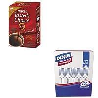 kitdxefh207nes15782–Valueキット–Nescafeプレミアムinstant-coffee single-serve Sticks ( nes15782) and Dixieプラスチックカトラリー( dxefh207)