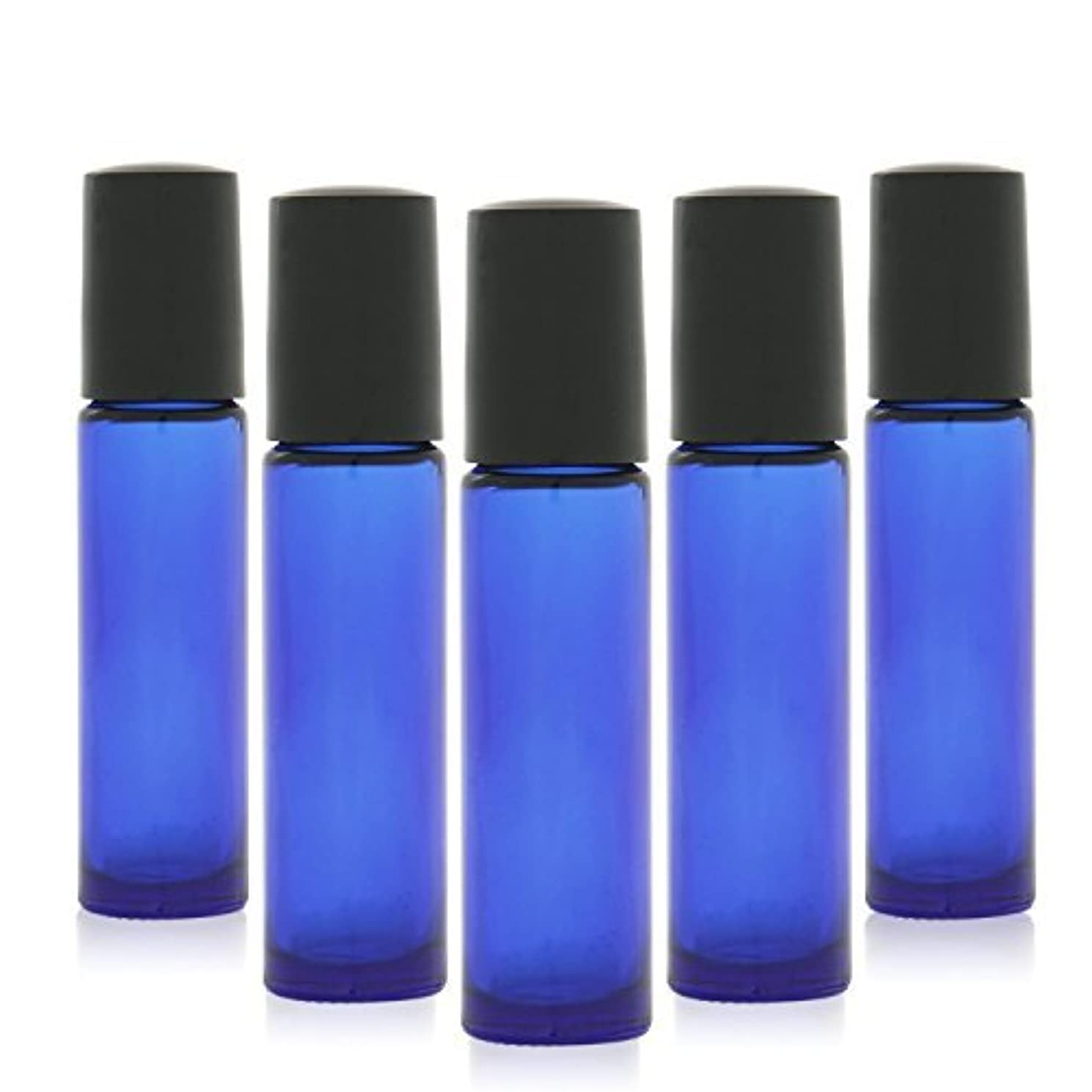 カナダ賞賛蜜12 pcs, 10ml Cobalt Blue Glass Roller Bottles with Stainless Steel Roller Ball for Essential Oil - Includes 12...