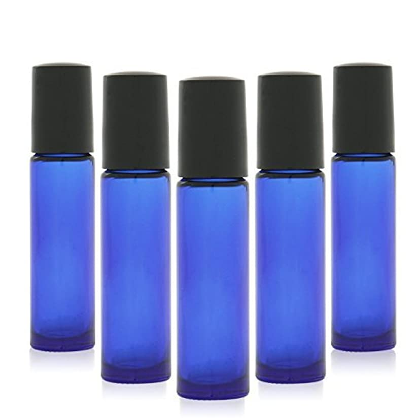 平和眠る自転車12 pcs, 10ml Cobalt Blue Glass Roller Bottles with Stainless Steel Roller Ball for Essential Oil - Includes 12...