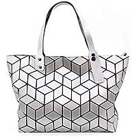 KAISIBO Unique Design Geometric Lattice Handbag Totes Purses for Women(K3138)